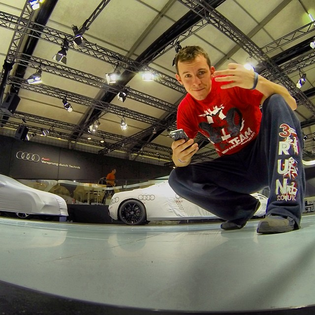 Free Runner Mike Wilson at Audi Auto Expo in India
